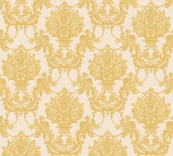Vlies Tapete Barock Ornament creme gold glanz metallic 34492-4 Chateau 5