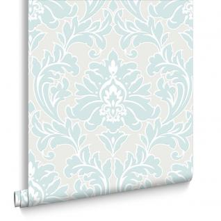 Vlies Tapete Barock Muster Ornament metallic effekt mint creme weiß klassisch
