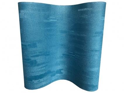 Vliestapete Uni Struktur Glitzer Effekt glänzend petrol blau MO1012 Grandeco