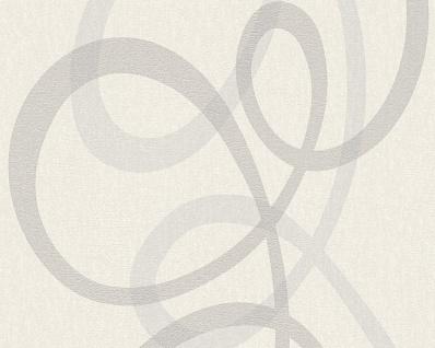 Vlies Tapete Grafik Optik Panel weiß grau silber metallic Fleece Royal retro