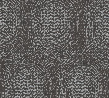 Vliestapete grafische abstrakte Kreise schwarz braun metallic AP Alpha 33373-4