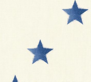 Vliestapete Sterntapete maritim beige blau 35183-3 Côte d`Azur Sternchen