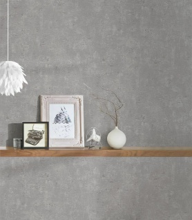 Vliestapete Stein Beton Optik grau Betonmauer Steinwand 230713