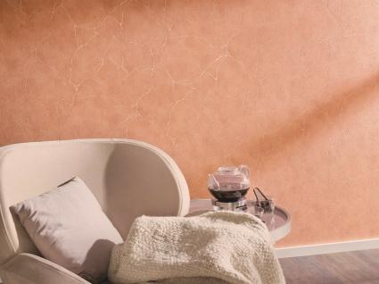 Vliestapete Beton Optik Marmor Struktur Stein Wand terra apricot orange 6323-13