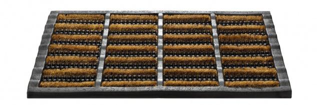 Outdoor Gummi Kokosrollen Fußmatte Mudbuster 40x60 cm Schmutzfangmatte Türmatte