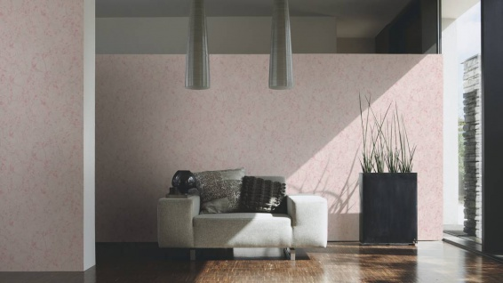 Vliestapete Uni Marmorstruktur rosa metallic Großrolle 10, 05 x 1, 06 m 36325-4 - Vorschau 2