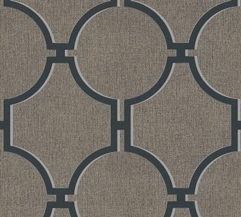 Vlies Tapete Vintage Grafik Kreise braun schwarz 36149-5 Elegance 5th Avenue