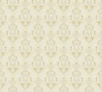 Vliestapete Barock Ornament creme beige Großrolle 10, 05 x 1, 06 m 36453-4 Melange - Vorschau 2