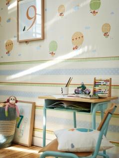 Esprit Kids 5 Streifen Sterne Motiv Vliestapete grün blau creme orange 30294-3