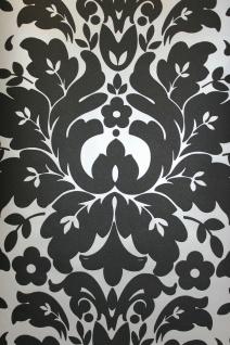 Royal Ornament Luxury Barock Tapete schwarz silber metallic 68117