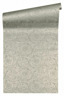 Versace 4 Vlies Tapete Federn Ranken Kreis Ornament creme grau metallic 366921