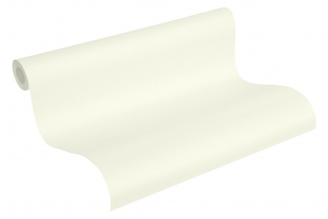 Uni Vliestapete creme weiß perlmutt metallic schimmernd glatte Struktur 3680-03