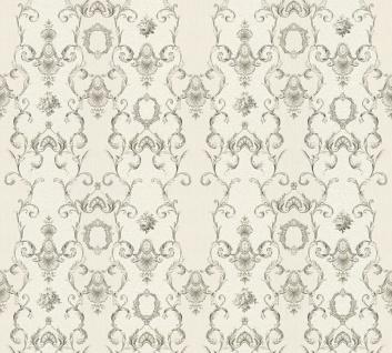 Vlies Tapete Ranken Barock Ornament silber grau weiß glanz 34392-3 Chateau 5