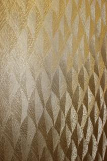Guido Maria Kretschmer Vliestapete Gold metallic Glanz Federn Struktur 10049-30
