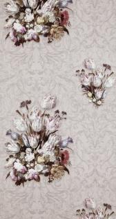 Vlies Tapete Florales Blumen Muster grau Dutch Masters 17803 Tulpen