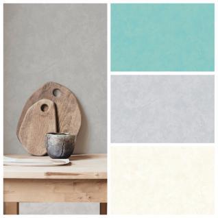 Vlies Tapete Spachtel Putzstruktur türkis blau grau creme weiß