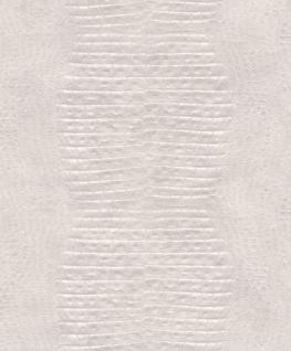 Vlies Tapete Krokodil Leder creme weiß metallic Schimmer Afrika 2S0204 leather