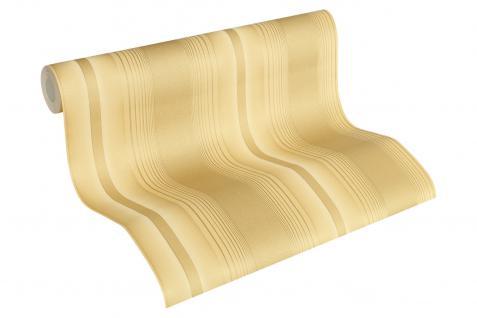 Luxus Vlies Tapete Streifen Uni beige gold metallic klassisch 330851 stripes
