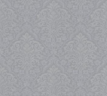 Vliestapete klassisch Barock Ornament grau glanz Architects Paper Alpha 32480-1
