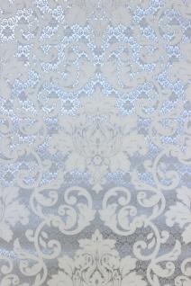 Vlies Tapete Barock Muster Ornament silber grau weiß metallic 13519-50