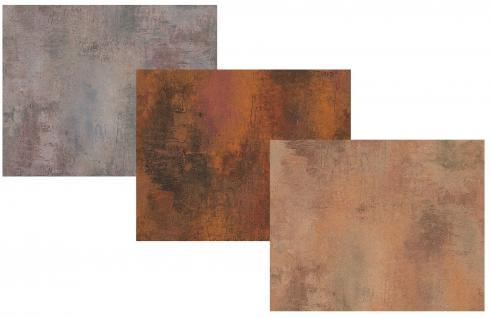 Vlies Tapete Patina Stein Wand grau kupfer rost braun Antik Optik Beton