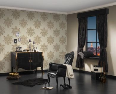 Vliestapete Barock Ornament grau silber Großrolle 10, 05 x 1, 06 m 36454-2 Melange - Vorschau 2