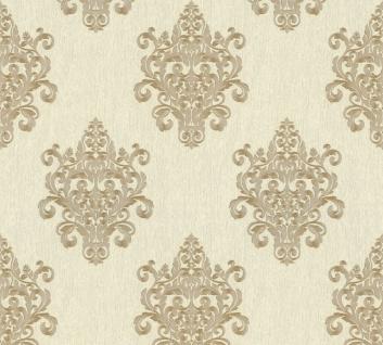 Vliestapete Barock Ornament creme beige Großrolle 10, 05 x 1, 06 m 36454-1 Melange