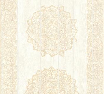 Vliestapete Mandala Ornament Holz Paneel Optik creme beige Boho Love 36462-2