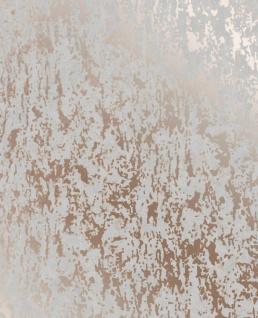 Strukturierte Beton Optik Tapete rose gold metallic grau 106401 Industrial Loft