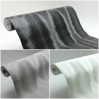 Vlies Tapete Design Pelz Optik schwarz grau weiß glanzeffekt modern elegant edel