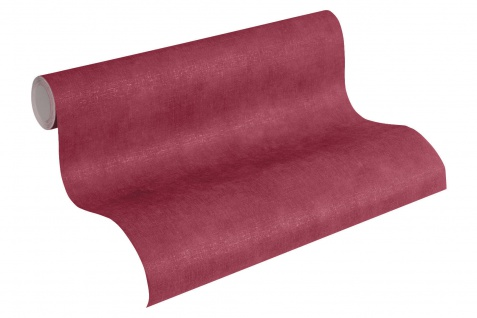 Vliestapete Uni Textil Optik bordeaux rot weinrot einfarbig Boho Love 36457-6