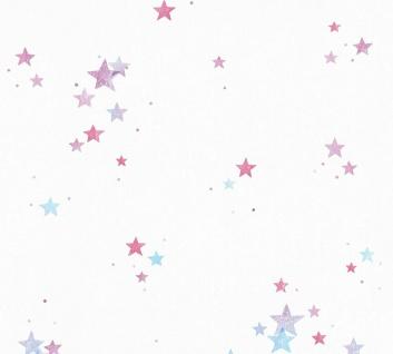 Esprit Kids 5 Tapete weiß Sterne blau lila pink 35696-3 / 356963 - Vorschau 1