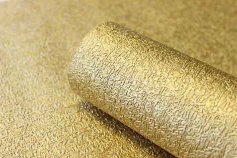 Vlies Tapete gold uni Struktur Hochwertige Qualität 1004-3 metallic