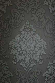 Vliestapete Barock Ornament schwarz glitzer 36898-4