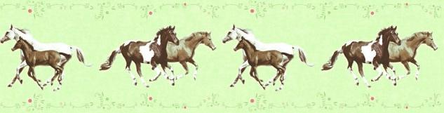 Tapeten Bordüre Kinder Pferde Ponys grün braun 35838-1 - Kaufen bei ...