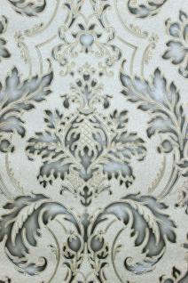 Vlies Tapete Barock Ornament creme gold grau silber metallic hochwertig JC2008-3