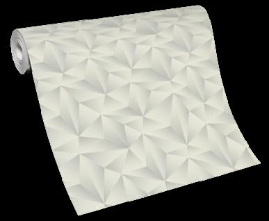 Vlies Tapete Design 3D Optik weiß grau metallic schimmer geometrisch 10106-31