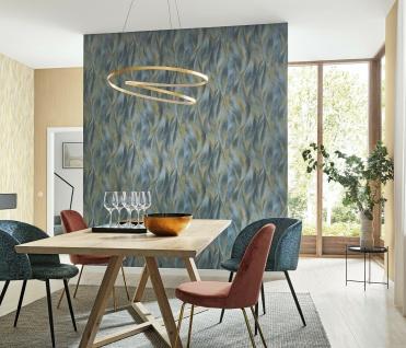 Vlies Tapete 3D Blätter blau grau gold metallic Guido Maria Kretschmer 10148-44