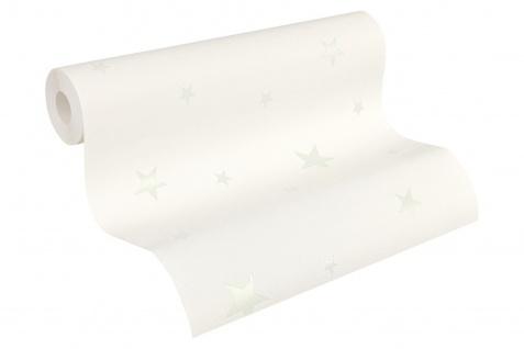 Vliestapete leuchtende Sterne weiß 32440-1 sternchen tapete leuchttapete