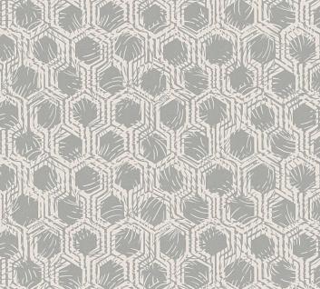 Vliestapete Waben Grafik silber creme metallic Architects Paper Alpha 33327-2