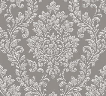 Vliestapete Barock Ornament kieselgrau weiß glanz 32984-2 Memory 3