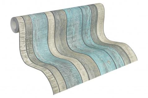 Vlies Tapete Antik Holz rustikal creme blau grau bretter verwittert 31993-2