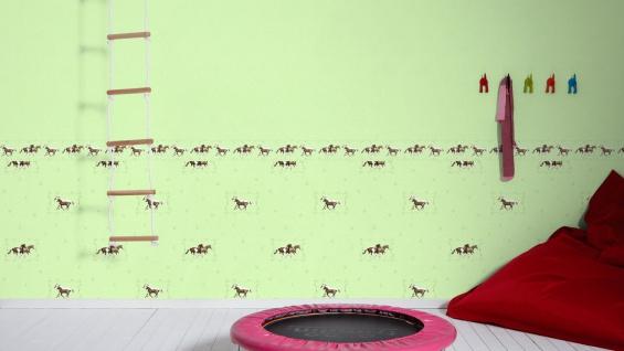 Vliestapete Kinder Uni hell grün einfarbig Little Stars 35834-3 - Vorschau 5