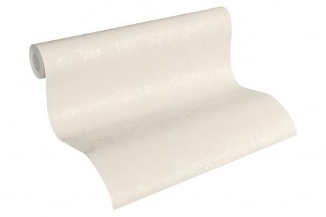 Vliestapete Uni Struktur glanz creme weiß 33544-1 Hermitage einfarbig
