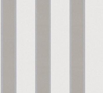 Vlies Tapete Streifen taupe grau glanz metallic Architects Paper Alpha 33329-1