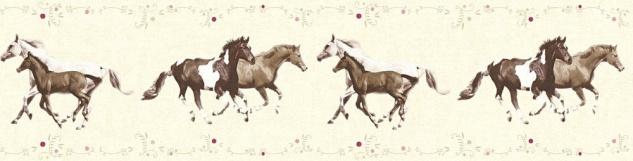 Tapeten Bordure Kinder Pferde Ponys Creme Braun 35838 2 Kaufen Bei