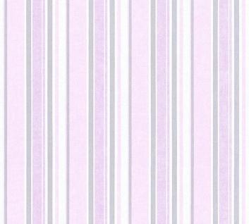 Vliestapete Kinder Streifen Muster rosa lila flieder 35849-4 Little Stars girl