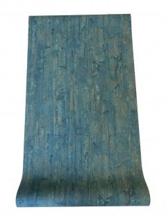 Vlies Tapete Beton Optik verwittert petrol blau rost Industrial Loft 655-03