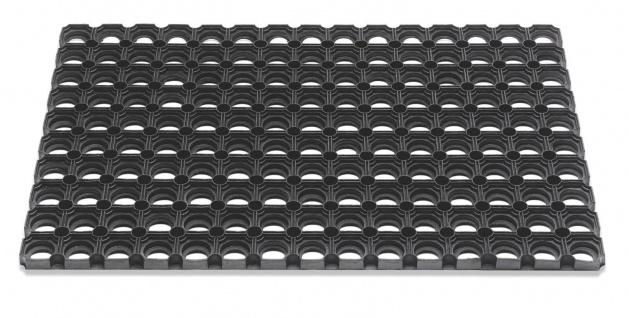 Outdoor Gummi Fußmatte Domino schwarz 40 x 60 cm Sauberlaufmatte Türmatte