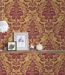 Vlies Tapete Barock Ornament rot gold metallic 36910-3